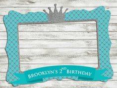 Blue Photo Frame - Customize photo booth props - Baby shower - birthday - printable frame - for babies - boys - girls - Prince Birthday Party, Prince Party, Baby First Birthday, Photo Booth Frame, Photo Booth Props, Baby Shower Deco, Baby Boy Shower, Sweet Sixteen Themes, Printable Frames