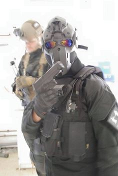 Devtac Japan Although they look like airsoft masks, these are ballistic, bullet resistant helmets. They did post several videos of the mask stopping .357 Magnum rounds. The configurations vary and...