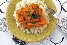 A delicious Asian shredded chicken over rice that is gluten-free, dairy-free and nut-free. A satisfying meal that beats take-out any day!