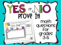 This is a set of 35 math questions that can be used for whole group, independent work, centers, during math workshop, or however else you by...
