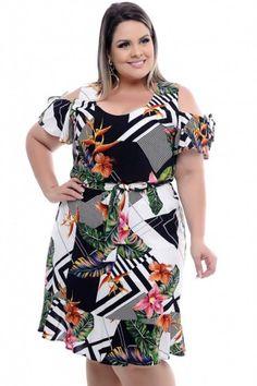 Vestido Plus Size Geometric Summer