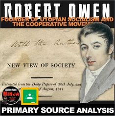 Robert Owen's New View of Society Primary Source Activity + Distance Learning American History Lessons, World History Lessons, Teaching History, History Lesson Plans, Primary Sources, New View, Student Reading, Industrial Revolution, Social Studies