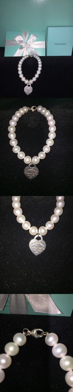 Pearl 164316: Tiffany And Co Freshwater Pearl Bracelet With Silver Heart *Clearance* -> BUY IT NOW ONLY: $245 on eBay!