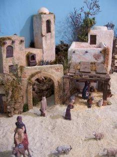 álbumes de fotos Diy Nativity, Christmas Nativity, Christmas Crafts, Mud House, Medieval Houses, Tenerife, Diorama, Mount Rushmore, Diy Crafts