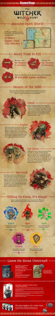 Epic adventure awaits. Be prepared for our upcoming The Witcher 3: Wild Hunt program with this helpful infographic