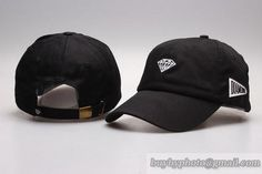 Diamond Curved Brim Caps Adjustable Hats Black only US$8.90 - follow me to pick up couopons.