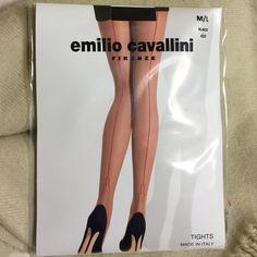 "Emilio Cavallini Black & Red Tights *NEW* Emilio Cavallini Black & Red Tights.  Made in Italy.  Medium/Large fits height 5'6"" - 5'9""; 135 - 155 pounds. Emilio Cavallini Accessories Hosiery & Socks"