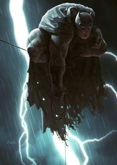 The Dark Knight of Gotham By Gilberto Martimiano on ArtStation Posters Batman, Batman Artwork, Batman Comic Art, Batman Wallpaper, Spiderman Art, Batman Dark, Batman The Dark Knight, Batman Vs Superman, Batman Gif