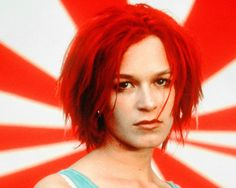 "Franka Potente in ""Lola Rennt"" Vanity Fair, Franka Potente, Bright Red Hair, Sci Fi Comics, Secret Crush, Portraits, About Time Movie, Movies, Hair"