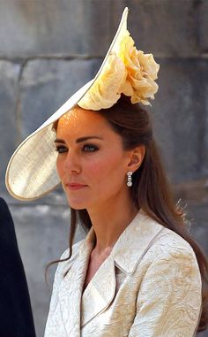 Blooming Daffodils from Kate Middleton's Hats & Fascinators  Note the delicate blossom on the underside of Kate's daffodil-hued Gina Foster hat.