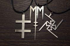 Marilyn Manson Heart Necklace Pendant Emblen Amulet Logo Symbol Pin Choker Sign #ebay #Fashion