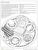 This page is both informative and fun to color--a double whammy! Whether your second grader's Jewish or not, you can help her learn all about the Seder plate.