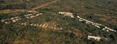 Nkambeni Tented camp from the air.