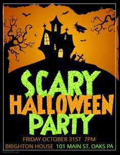 71 best halloween party flyer templates images on pinterest in 2018 rh pinterest com halloween party poster template for kids halloween party poster ideas