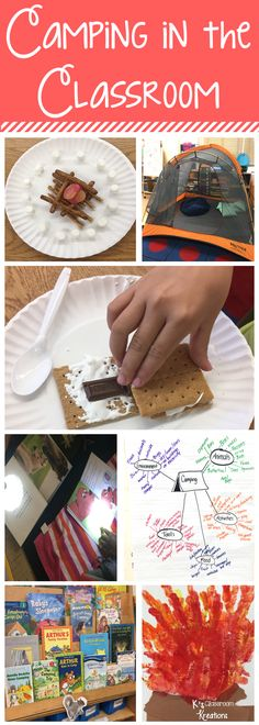 If you are looking for camping themed crafts, activities for your classroom, or snacks, this post is for you! Tons of camping themed ideas are shared to help you have an awesome Classroom Campout!