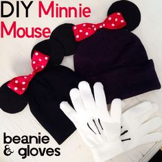 http://www.kandeej.com/2014/01/diy-minnie-mouse-beanie-hats-gloves.html