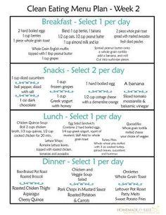 Clean Eating Menu Plan Week 2-Recovered