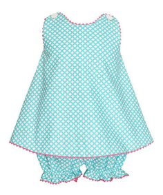 Take a look at this Turquoise Swing Top & Bloomers - Infant & Toddler by Velani Classics on #zulily today!