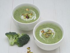 Broccoli-pistache soep