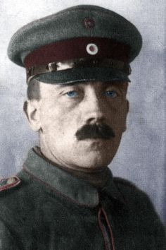 Adolf Hitler during WWI. A runner on the Western Front in France and Belgium in the Bavarian Reserve Infantry Regiment 16. He experienced major combat, including the First Battle of Ypres, the Battle of the Somme, the Battle of Arras, and the Battle of Passchendaele.