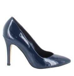 Zapato de tacón alto con punta fina, en tono Azul noche. Modelo básico, no puede faltar en tu armario. Ref.6027 //High heel pointed toe shoe in midnight Blue colour. A basic model, indispensable for your wardrobe. Ref.6027