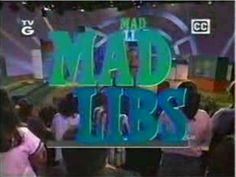 Mad Libs (game show) Mad Libs Game, Kids Shows, 90s Kids, Cartoons, Feelings, Games, Cartoon, Cartoon Movies, Gaming