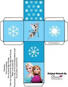 Free Printable Favor Box 3 ♥ Frozen