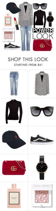 """Power look"" by karo-filipek on Polyvore featuring moda, Current/Elliott, self-portrait, Gucci, Polo Ralph Lauren, Topshop i Bobbi Brown Cosmetics"