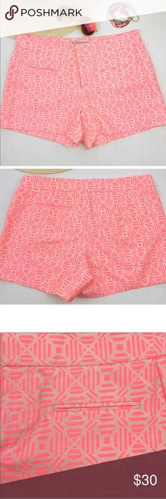 Gap pink shorts chic print Gap neon pink shorts. Cool print for style perfect for summer size 0 great condition. 57%cotton 26% polyester 17% nylon GAP Shorts