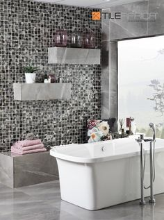 Do you believe that more is more and that glamour is an essential, not an option? Then our Luxe Living is the style for you! Luxurious marble, glass mosaics and metallic finishes make this style one to remember. #luxeliving #luxury #glamour #decor #homedecor #style #homestyle #lovehome #bolddesign #homegoals Glamour Decor, Love Home, Mosaic Glass, Mosaics, Tiles, Marble, Metallic, Luxury, House Styles