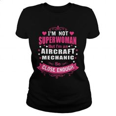 AIRCRAFT MECHANIC - super wm #clothing #T-Shirts. MORE INFO => https://www.sunfrog.com/LifeStyle/AIRCRAFT-MECHANIC--super-wm-Black-Ladies.html?60505