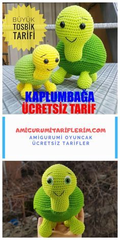 We continue to share with you the most beautiful patterns related to Amigurumi. Amigurumi turtle free pattern is waiting for you in this article. Crochet Turtle Pattern, Crochet Patterns Amigurumi, Amigurumi Doll, Crochet Toys, Knitting Patterns, Crochet Gratis, Cute Crochet, Big Turtle, Hamster