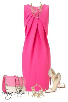"""5/15/14"" by longstem ❤ liked on Polyvore featuring L'Agence, Christian Louboutin, Majorica, Valentino and Henri Bendel"