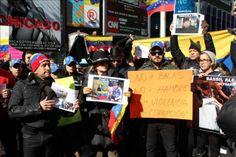 Venezolanos protestan en N.Y. contra violencia y el Gobierno de Caracas