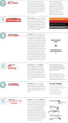 18 Rules For Using Text In Your Work - UltraLinx