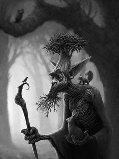 Silvan Picture  (2d, fantasy, creature, animals, tree)