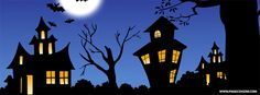 Haunted Houses Halloween Facebook Cover