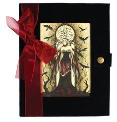 Velvet Journal Dark Queen Fairy Wicca Witch Faery Diary BOS | eBay