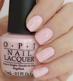 OPI I Love Applause - baby pink nails