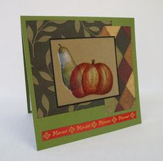 Harvest Autumn Handmade Christian All Occasion Card With Scripture by stufffromtrees on Etsy