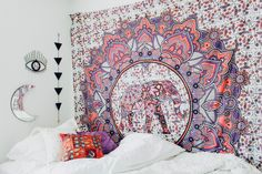 Deja Vu Tapestry✨  Design by @kaitlynjohnsondesign ☽ ✩ Product by Lady Scorpio | Bohemian Boho Bungalow Bedroom || Save 25% off all orders with code PINTERESTXO at checkout | Shop Now LadyScorpio101.com