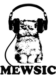 Mewsic – #cat #cats #kitten #kittens #headphones #aux #cable #cute #cuddly #love #summer #cuddle #soft #music #beats #notes #songs #lyrics #want #need #Print #proxy #design #clothing #clothes #apparel #Men #women #girls #guys #fashion #style #Hipster #alternative #hip #hop #rap #rib #rock #roll