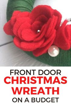 Check out this quick and simple dollar store Christmas wreath for front door project. Decorate for Christmas on a budget with this fast wreath you can make in an hour. #hometalk Christmas Wreaths For Front Door, Xmas Wreaths, Christmas Decorations, Diy Crafts Store, Craft Stores, Dollar Store Christmas, Christmas On A Budget, Diy Christmas, Diy Faux Rocks