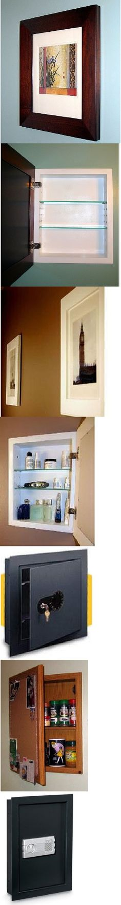 Get an old medicine cabinet.  Sink it into the wall in your bedroom area.  Then hinge a picture over the front of it.  Hidden storage.