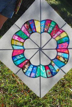 Ferris Wheel Quilt Block Dresden Plate Patterns, Dresden Plate Quilts, Paper Piecing Patterns, Quilt Block Patterns, Pattern Blocks, Quilt Blocks, Dress Patterns, Diy Sewing Projects, Quilting Projects