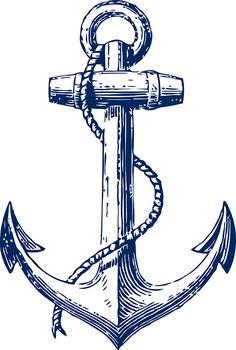 'Anchor' Sticker by Artbyhelmer Navy Tattoos, Anchor Tattoos, Tattoos For Guys, Vintage Nautical Tattoo, Nautical Tattoo Sleeve, Vintage Anchor Tattoo, Anchor Clip Art, Feminine Anchor Tattoo, Tatoo