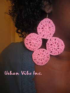 Urban Unique Diva Round Disc Earrings Real Pink by snchastang25, $10.00