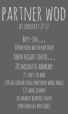 CrossFit 2717 WOD - partner wod