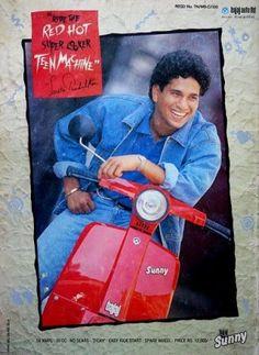 Sachin Tendulkar In Sunny Scooter