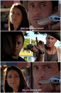 Steve McGarrett  … gets carjacked! # ALEX O`LOUGHLIN # STEVE MCGARRETT # HAWAII…